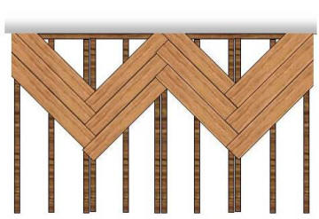 herringbone decking design