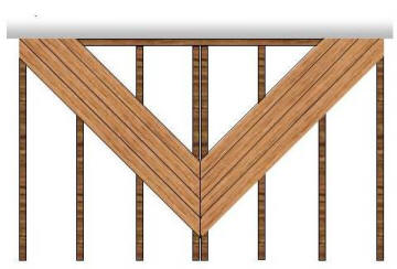 v shaped decking pattern