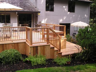 Wood Patio Furniture on Figure 3   Wood Deck Attached To Home And Over 30  Above The Ground